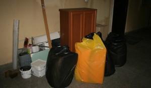 Изхвърляне на вещи и боклуци от апартамент