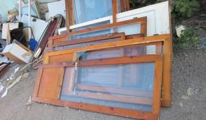 Изхвърляне на дървена дограма