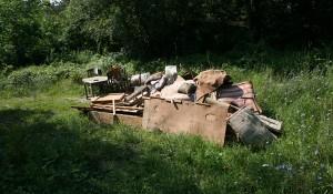 Изхвърляне на дървени отпадъци