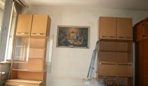 Изхвърляне на стара секция и спалня